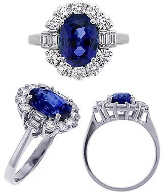 Center sapphire ring