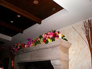 Jen and rob fri dinner fireplace arrangement