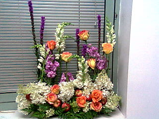 Arrangement on windowsill