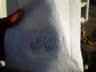 J&r embroidered napkins