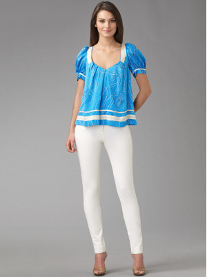 White dvf denim
