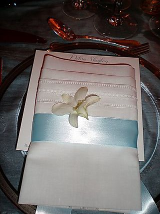 Jen wedding place setting