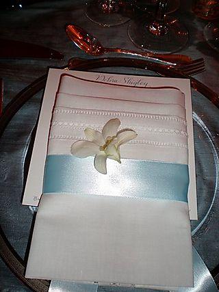 Jen wedding place setting