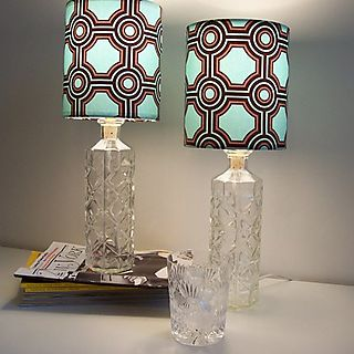 Geometric etsy lamps