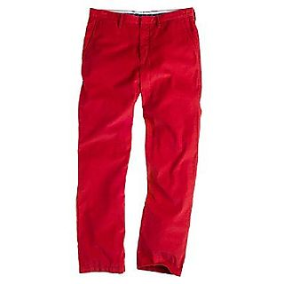 Jcrew red cord trousers