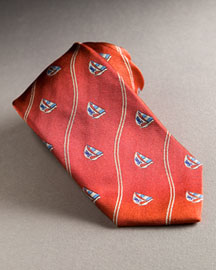 Orange psycho bunny tie